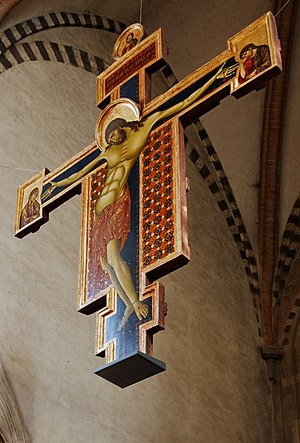 Poor Man's Bible - The Crucifix by Cimabue in San Domenico's Church, Arezzo, Italy
