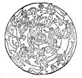 Circular illustrations representing the zodiac. Wellcome M0003384.jpg