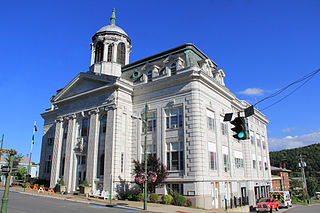 Little Falls City Hall historic government building in New York state, USA