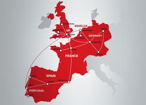 Claranet - Claranet network as of 2013