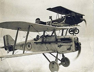 Hell's Angels (film) - Clarke and Roy Wilson flying an S.E.5A (front) and a Fokker D.VII (back) in the movie Hell's Angels.