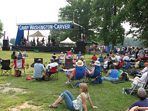 Appalachian String Band Music Festival - The main stage at the 2007 Appalachian String Band Music Festival