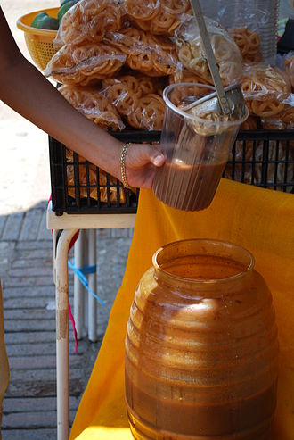 Pozol - Pozol being served at the boardwalk of Chiapa de Corzo, Chiapas