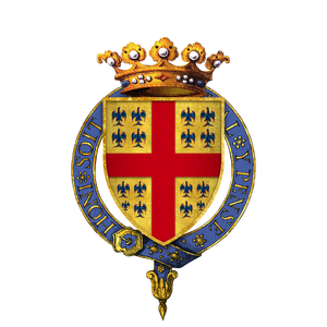 François de Montmorency - Gartered arms of Francois, Duc de Montmorency, KG