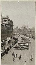 Colleges and Universities - Harvard University - Liberty Loan Parade, students marching through Harvard Square, Cambridge, Massachusetts - NARA - 26426604.jpg