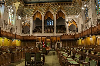 Politics of Canada - A democratically elected body, the House of Commons of Canada is one of three components of the Parliament of Canada.