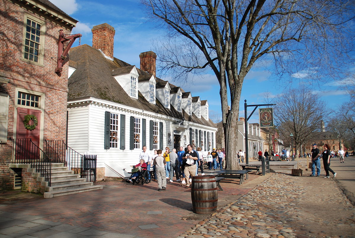 Colonial Williamsburg Wikipedia - Map of us wiliamburg virginia