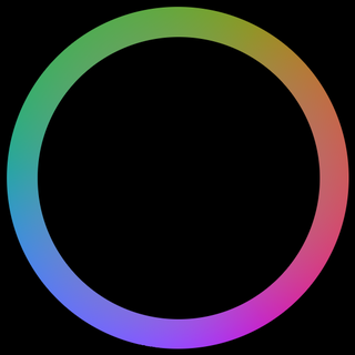 Hue Property of a color indicating balance of color perceived by the normal human eye