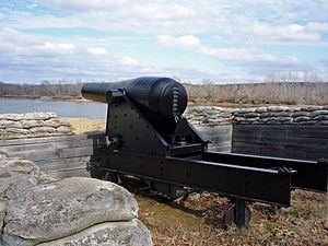 Columbiad - Ten-inch Confederate columbiad at Fort Donelson National Battlefield