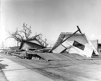 Columbus Day Storm of 1962 - Damage in Newberg, Oregon