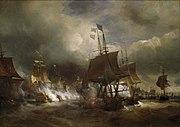 Combat d'Ouessant juillet 1778 par Theodore Gudin