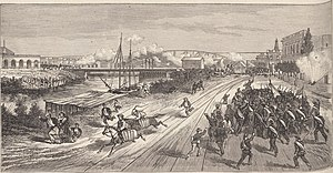 Federalization of Buenos Aires - Combat of 20 June: Barrancas Bridge's defence by the National Guard of Buenos Ayres.