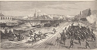 Federalization of Buenos Aires - Combat of June 20: Barrancas Bridge's defence by the National Guard of Buenos Ayres.