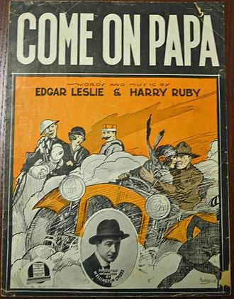 Edgar Leslie - Come On Papa sheet music