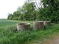 Concrete pipes upended - geograph.org.uk - 1320674.jpg