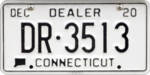 Connecticut Dealer Plate DR-3513.png