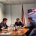 ConsMunich Secretary Napolitano im Interview mit Redakteuren der SZ. (7241276560).jpg