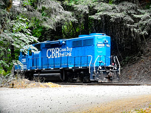 Coos Bay Rail Link - Locomotive for the Coos Bay Rail Link, Oregon, USA.