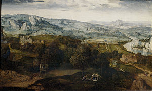 World landscape - Rest on the Flight into Egypt, Cornelis Massys, c. 1540