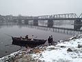 Coryell's Ferry Militia reenacting James Monroe's crossing of the Delaware River.jpg