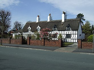 Listed buildings in Southport - Image: Cottages, Roe Lane, Southport