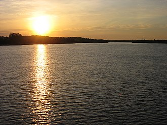 Ashuapmushuan River - Sunset over the Ashuapmushuan River at Saint-Félicien