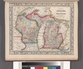 County map of Michigan, and Wisconsin. NYPL1510818.tiff