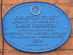 Coventry watch museum project   16 norfolk street bahne   bonniksen
