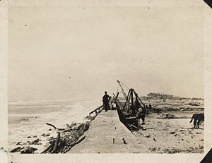 Riprap - Crews replacing riprap at Galveston Seawall after a 1915 hurricane