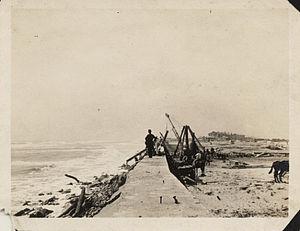 Riprap - Crews replacing riprap at Galveston Seawall after a 1915 hurricane