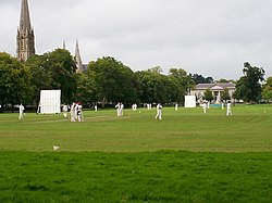 Cricket on the Mall, Armagh - geograph.org.uk - 589172