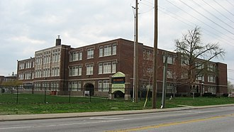 Crispus Attucks High School - Front and southern side of the school