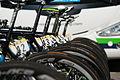 Critérium du Dauphiné 2014 - Etape 6 - Etalage de vélos.jpg