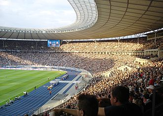 2009 World Championships in Athletics - The Olympiastadion with its new blue race track