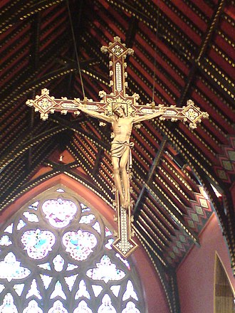 St Mary's Cathedral, Newcastle upon Tyne - Image: Crucifix cathedral church st mary newcastle