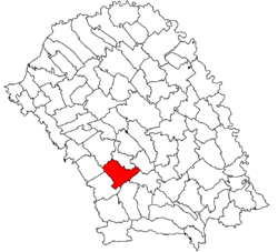 Location of Curtești, Botoșani