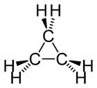 Strukturformel von Cyclopropan