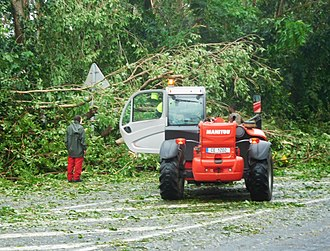 Hurricane Maria - Numerous trees fell across Guadeloupe, clogging roadways with debris