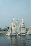 Dériveurs 18 pieds australiens au Salon Nautique International à Flot de La Rochelle 1987 (01).jpg