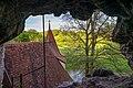 Dörzbach - St. Wendel zum Stein - Blick aus Einsiedlerhöhle auf Kapelle 1.jpg