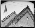 DETAIL, ROOF LINES - Wesley Methodist Church, 201 North Fifth Street, Watertown, Jefferson County, WI HABS WIS,28-WATO,2-6.tif