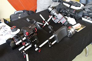 Zacuto (camera accessories) - Various Zacuto parts attached to cameras