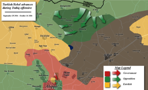2016 Dabiq offensive - Map of the offensive