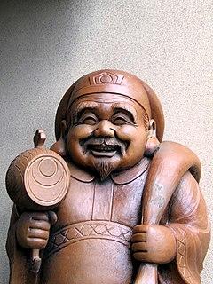 Japanese deity of great darkness or blackness; an adaptation of the Hindu/Buddhist deity Mahākāla