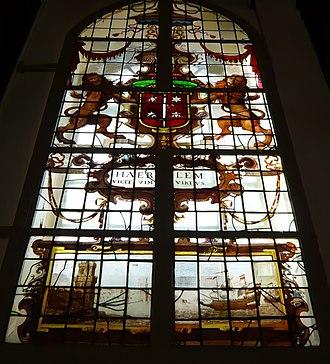 Damiaatjes - Image: Damiaatjes glas in lood