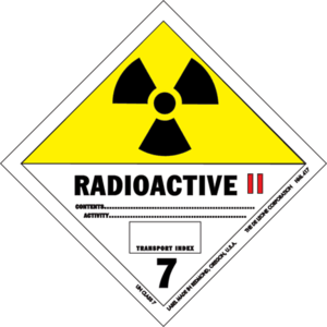 The danger classification sign of radioactive ...