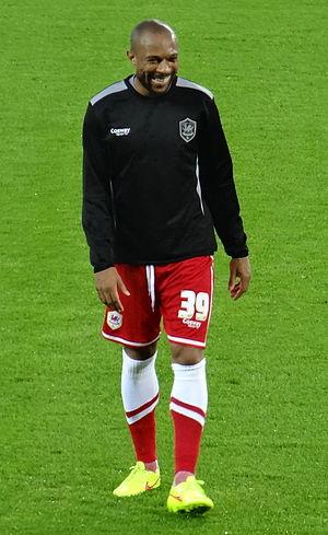 Danny Gabbidon - Gabbidon warming up for Cardiff City in 2014