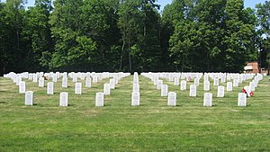 Danville Branch, National Home for Disabled Volunteer Soldiers Historic District - Graves in Danville National Cemetery