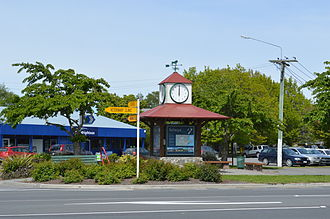 Darfield, New Zealand - Clock at Darfield, New Zealand