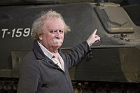 Tank Historian David Fletcher, at The Tank Museum, Bovington, UK